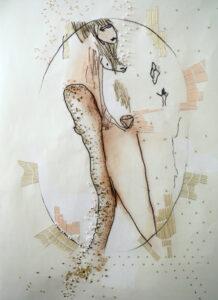 Monotype brodé n°7